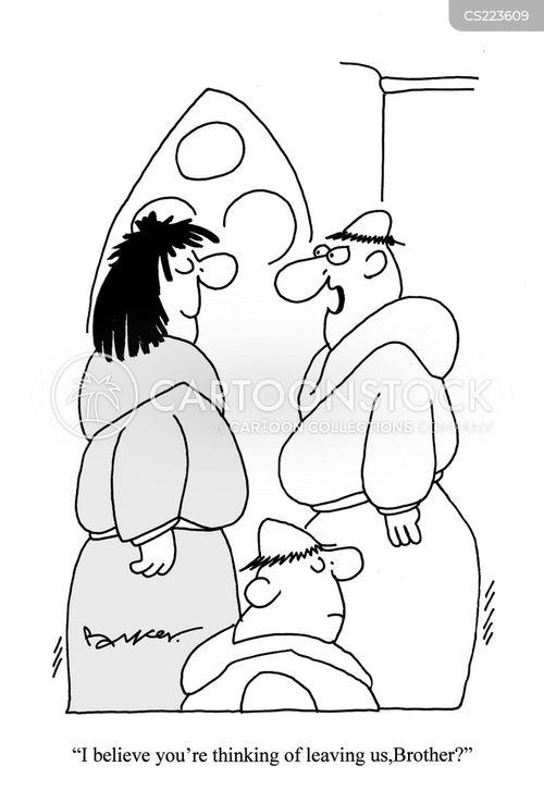 benedictine monk cartoon