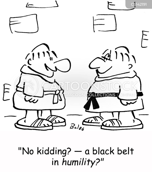 black belt cartoon