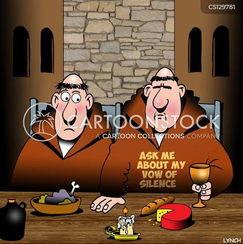 trappist monk cartoon
