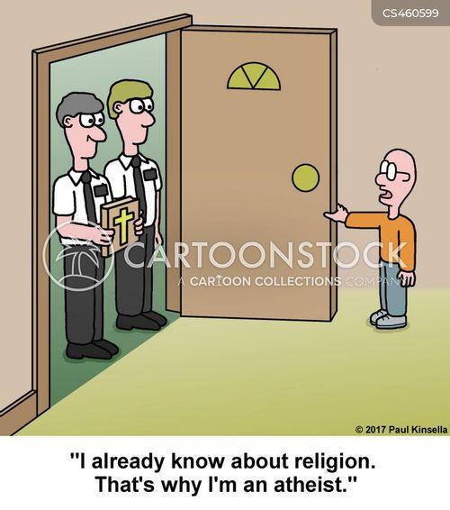 religious people cartoon