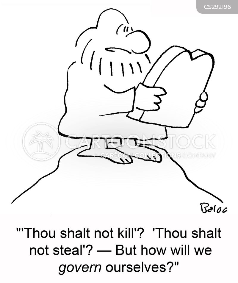 thou shalt not steal cartoon