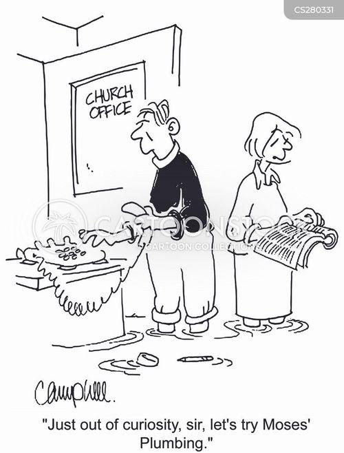 plumbing problems cartoon
