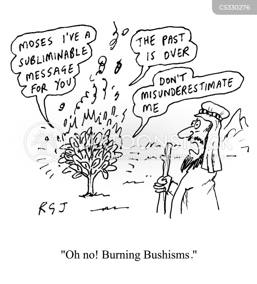 burning bushes cartoon