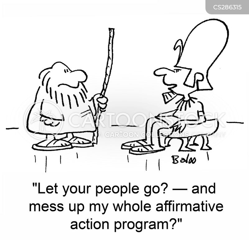 affirmative action program cartoon