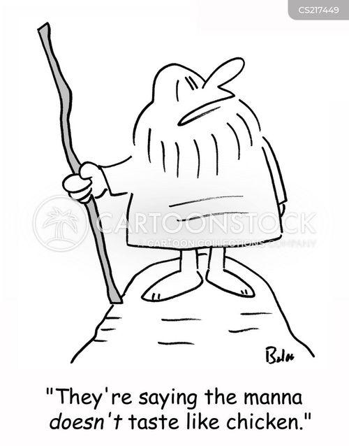 manna bread cartoon