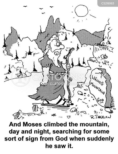 the ten commandments cartoon