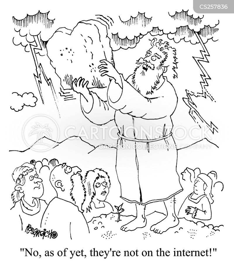 the 10 commandments cartoon