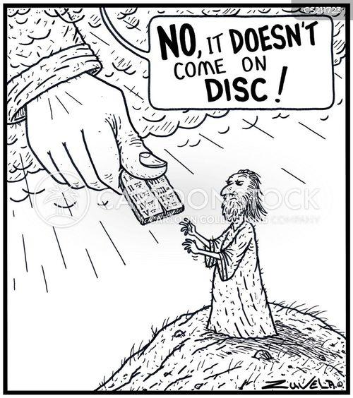 disc cartoon