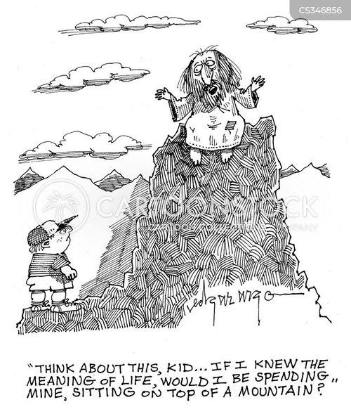 mountaintop guru cartoon