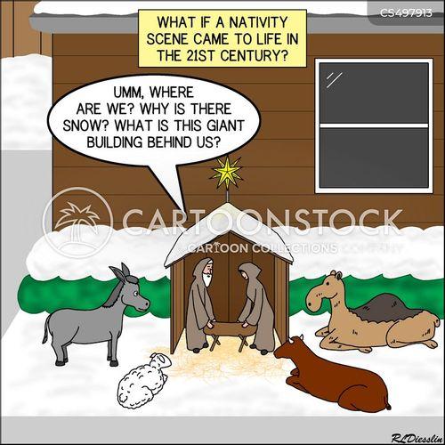 nativity scenes cartoon