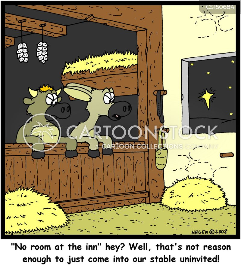 No Room At The Inn Cartoons and Comics - funny pictures from CartoonStock