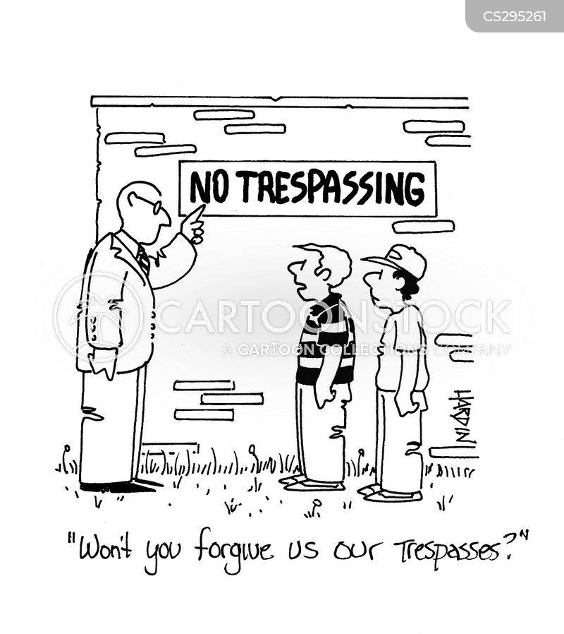 trespassed cartoon