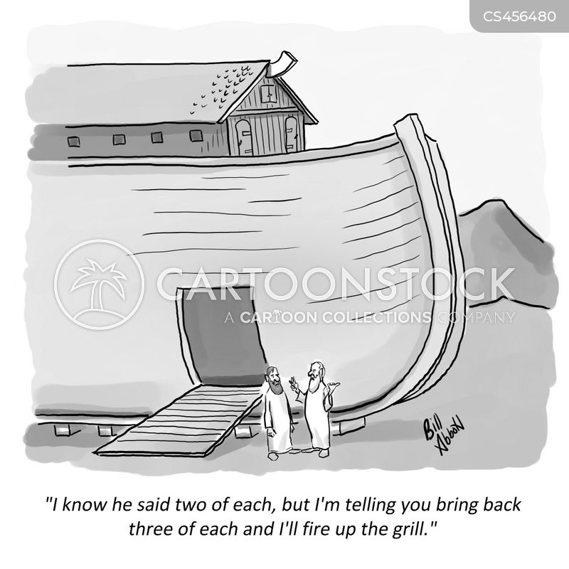 biblical flood cartoon