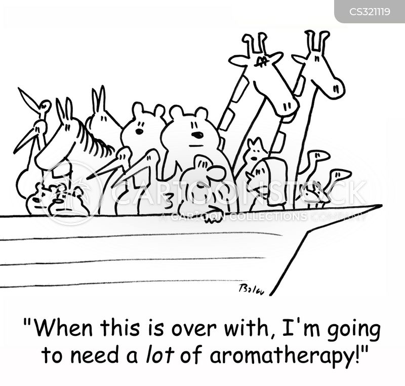aromatherapist cartoon