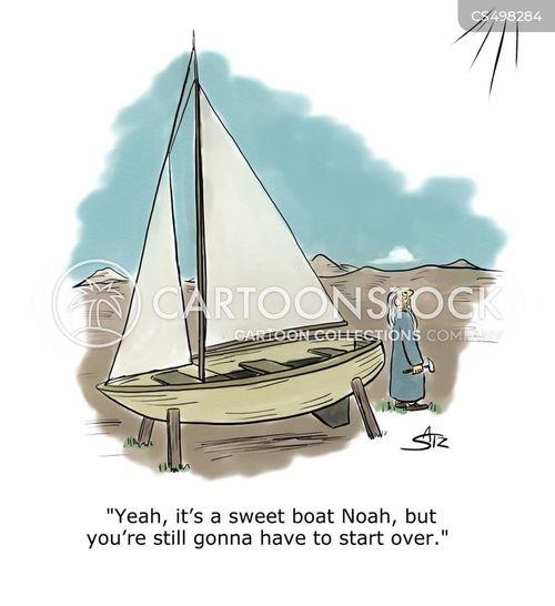 boat building cartoon