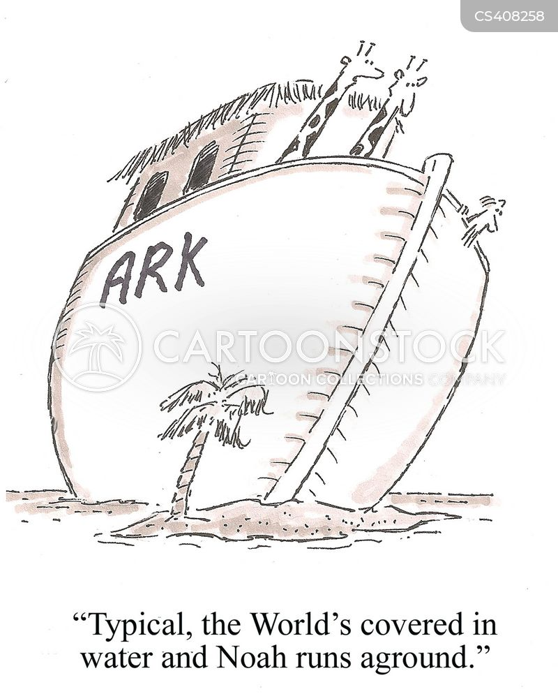 ship grounding cartoon