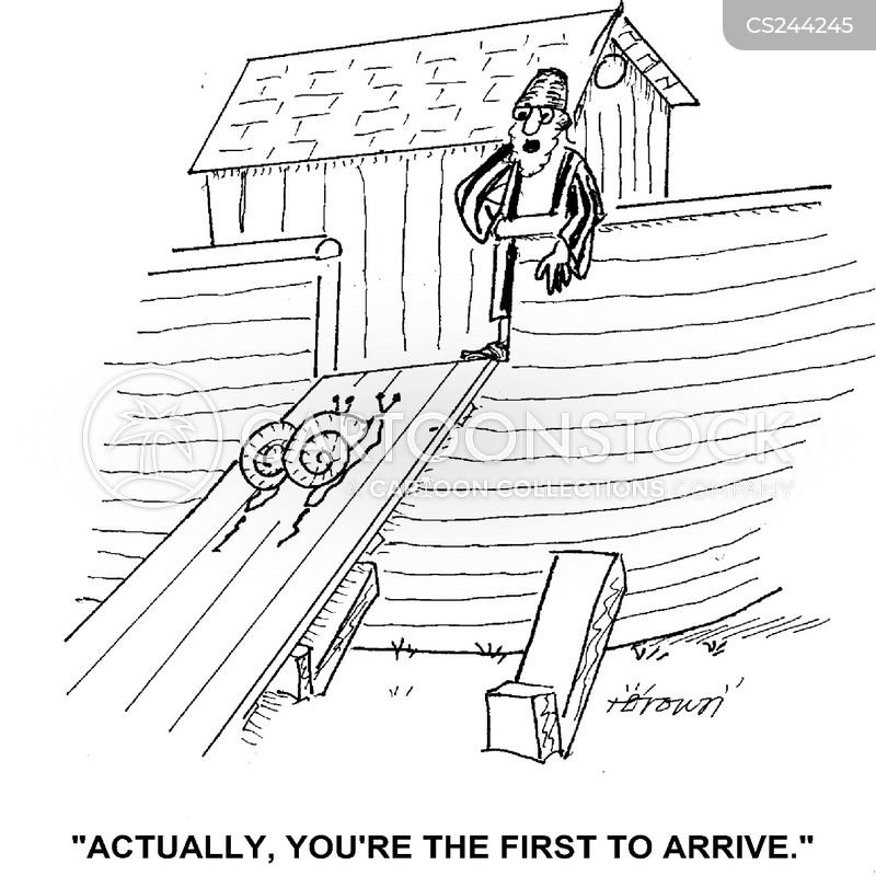 early arrivals cartoon