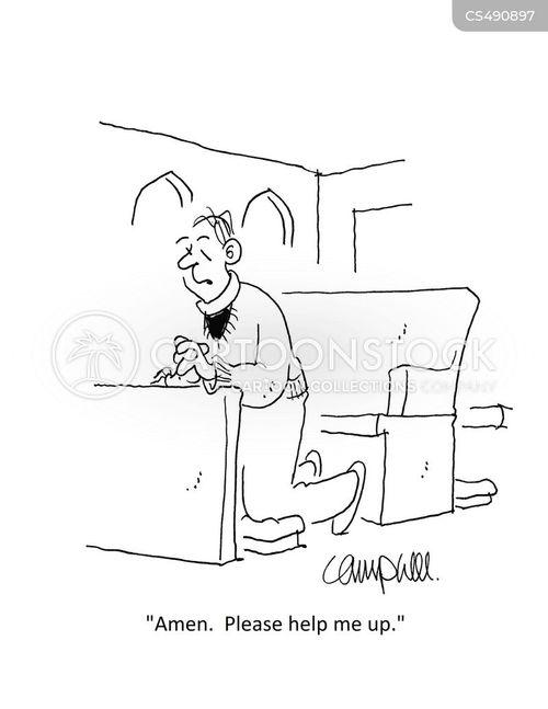 kneels cartoon