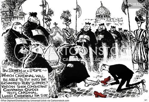 papal regalia cartoon