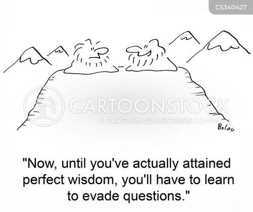 evade questions cartoon
