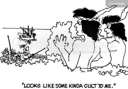 pilgrim landing cartoon