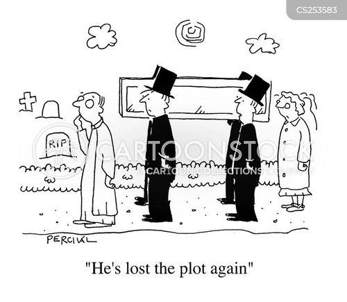 grave plot cartoon