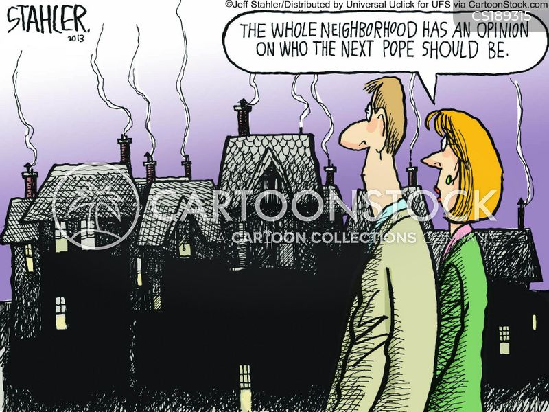 pope cartoon