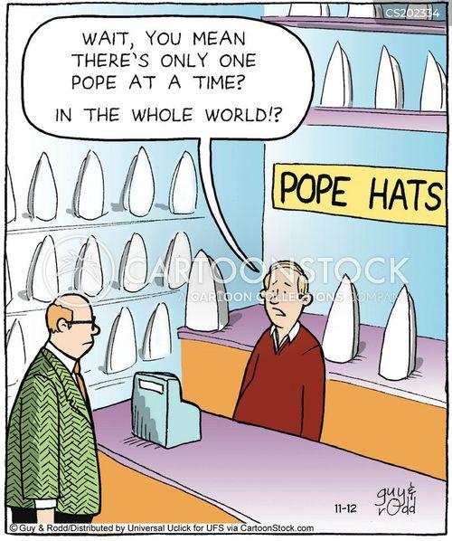 popes cartoon