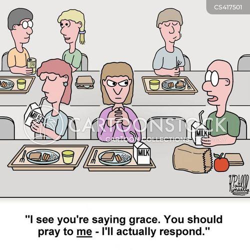 lunch room cartoon