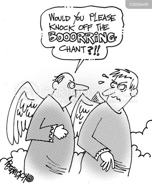 chanting cartoon