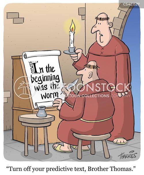 predictive texts cartoon