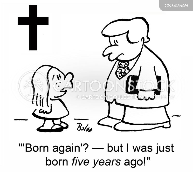 born again christians cartoon