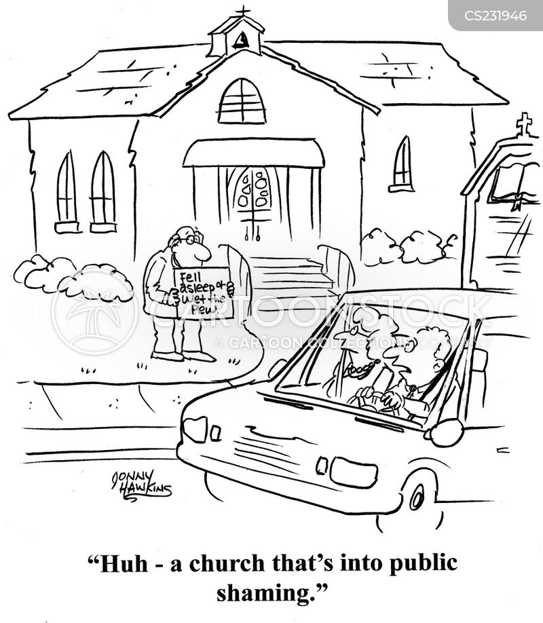 public shaming cartoon