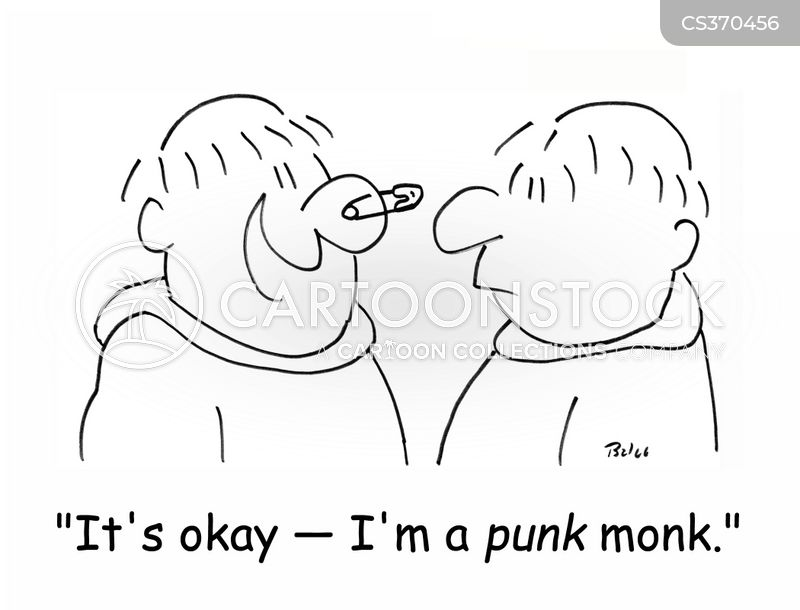 punk fashion cartoon
