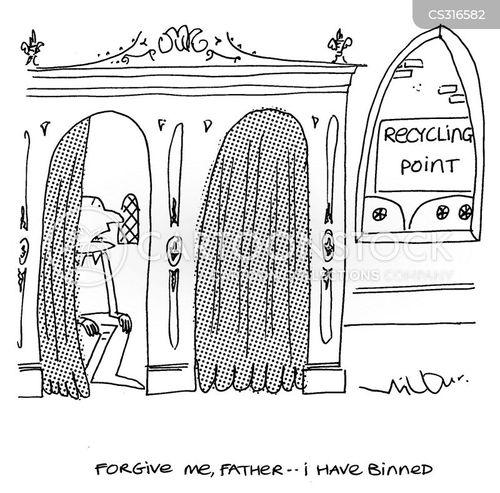 binned cartoon