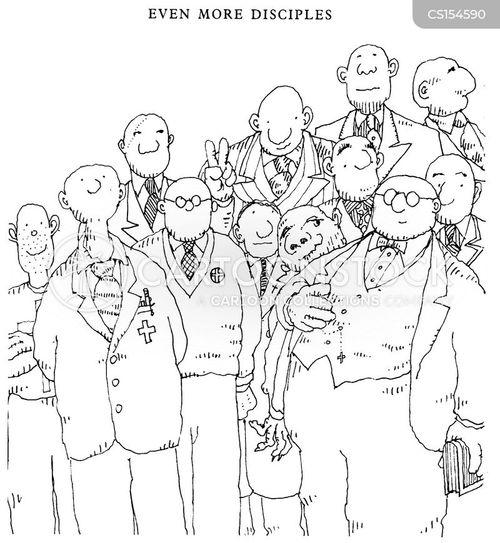 twelve disciples cartoon