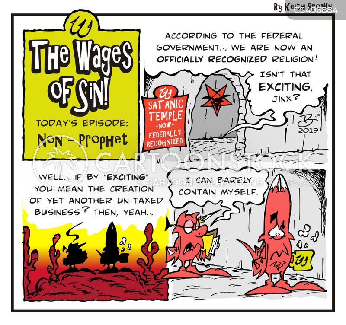 satanists cartoon