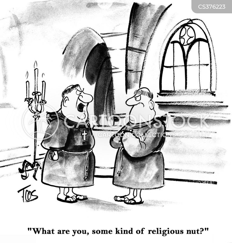 religious nut cartoon