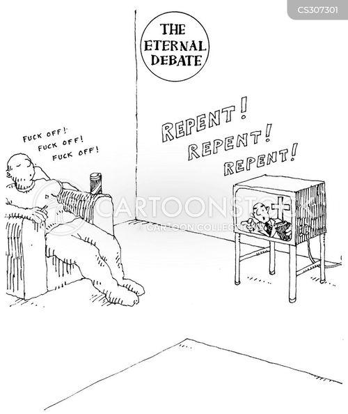 televangelists cartoon