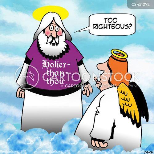 holier-than-thou cartoon
