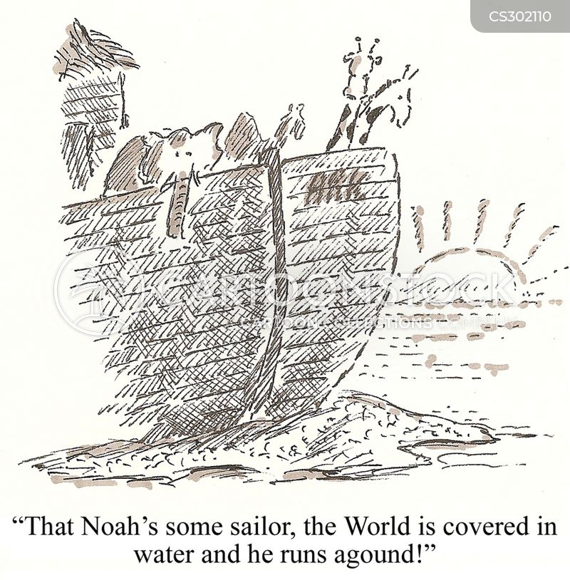 biblical floods cartoon
