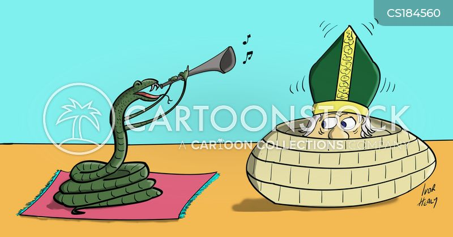 snake charmer cartoon