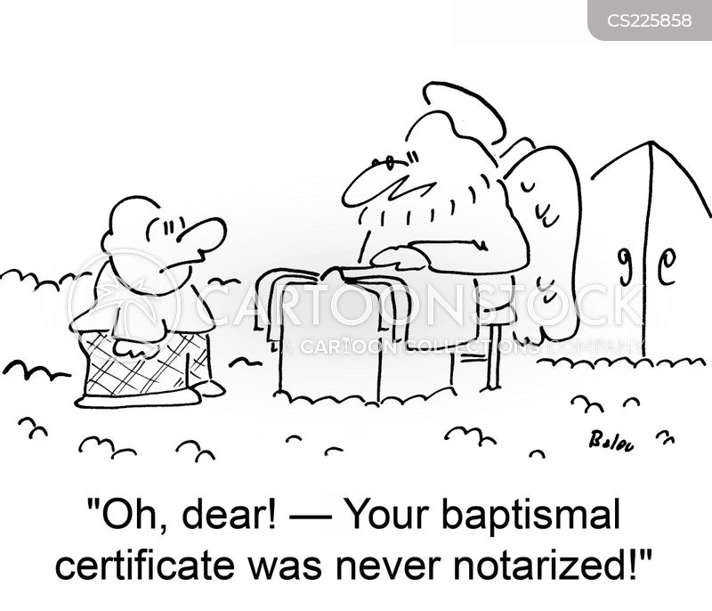 christening cartoon