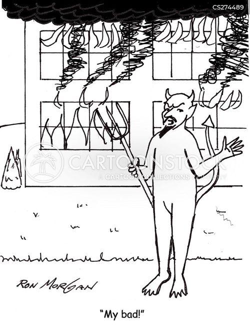 building fire cartoon