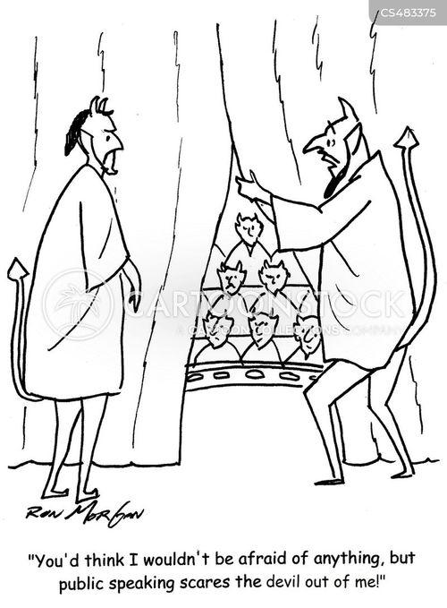 performance nerves cartoon