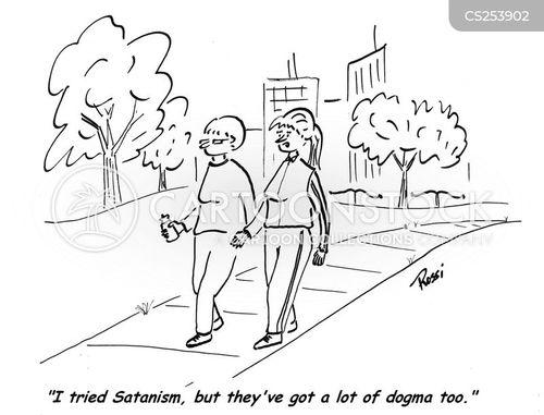 satanism cartoon
