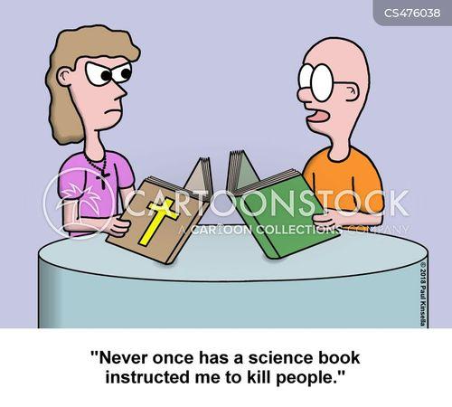 science books cartoon