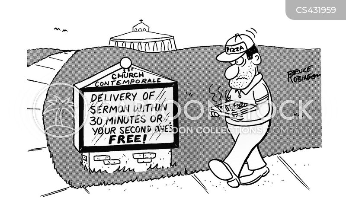 church sermon cartoon