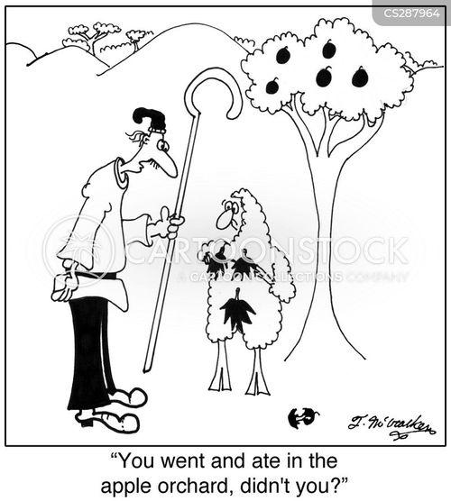 forbidden fruit cartoon