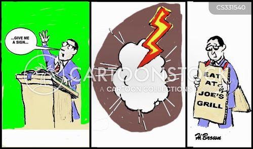 lightening strikes cartoon